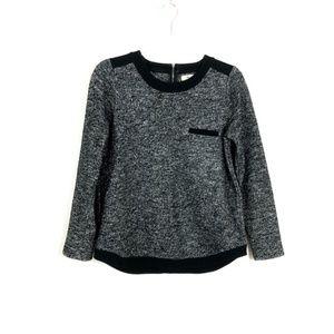 Madewell Black Heathered Wool Blend Pullover FB14